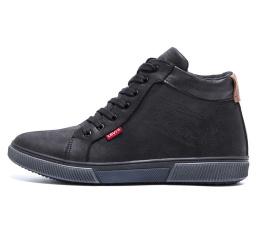 Мужские ботинки на меху Levi's Classic черные