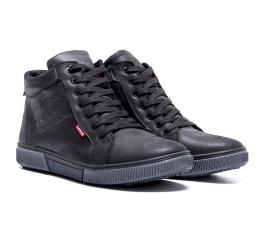 Купить Мужские ботинки на меху Levi's Classic черные в Украине