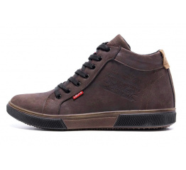Купить Мужские ботинки на меху Levi's Classic коричневые