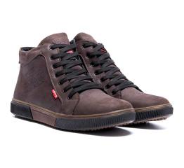 Купить Мужские ботинки на меху Levi's Classic коричневые в Украине