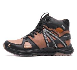 Купить Мужские ботинки на меху Merrell коричневые