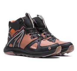 Купить Мужские ботинки на меху Merrell коричневые в Украине