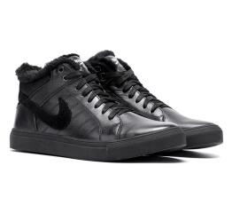 Купить Мужские ботинки на меху Nike Air High черные в Украине