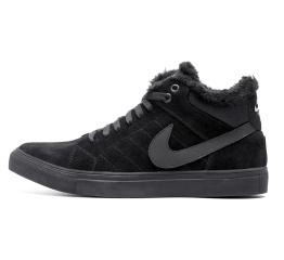 Купить Мужские ботинки на меху Nike Air Suede High черные