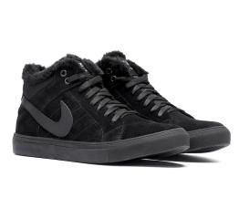 Купить Мужские ботинки на меху Nike Air Suede High черные в Украине