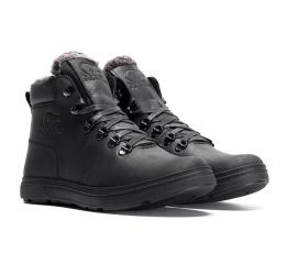 Купить Мужские ботинки на меху Polar Bear черные в Украине