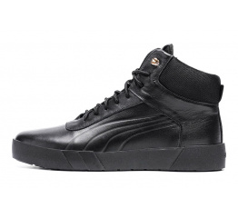 Мужские ботинки на меху Puma High черные