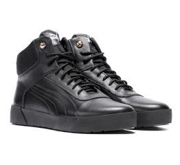 Купить Мужские ботинки на меху Puma High черные в Украине