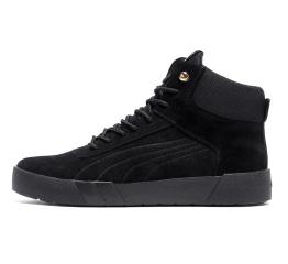 Купить Мужские ботинки на меху Puma Suede High черные