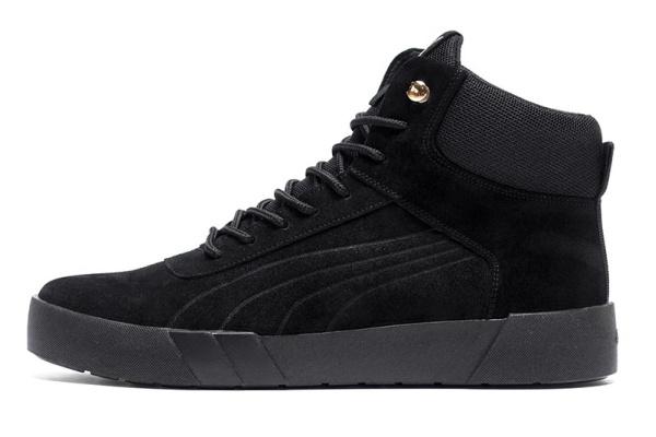 Мужские ботинки на меху Puma Suede High черные