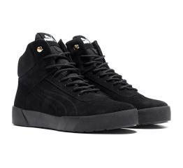 Купить Мужские ботинки на меху Puma Suede High черные в Украине
