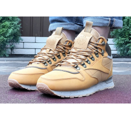 Купить Мужские ботинки на меху Reebok Classic High Fur светло-коричневые в Украине