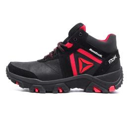 Мужские ботинки на меху Reebok Crossfit черные с красным