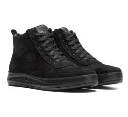 Купить Мужские ботинки на меху Timberland черные в Украине