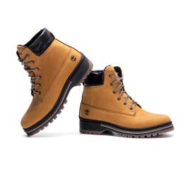 Купить Мужские ботинки на меху Timberland светло-коричневые в Украине