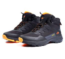 Мужские ботинки The North Face черные с оранжевым