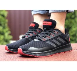 Купить Мужские кроссовки Adidas Boost черные с красным