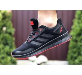 Купить Мужские кроссовки Adidas Boost черные с красным в Украине