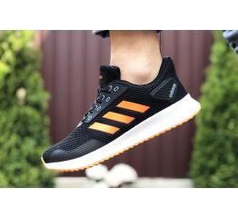 Купить Мужские кроссовки Adidas Boost черные с оранжевым в Украине