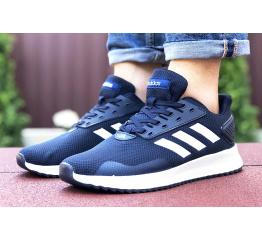 Купить Мужские кроссовки Adidas Boost темно-синие с белым
