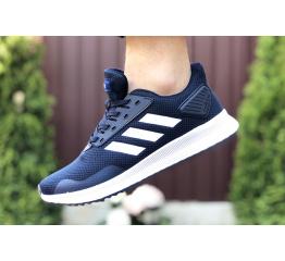 Купить Мужские кроссовки Adidas Boost темно-синие с белым в Украине