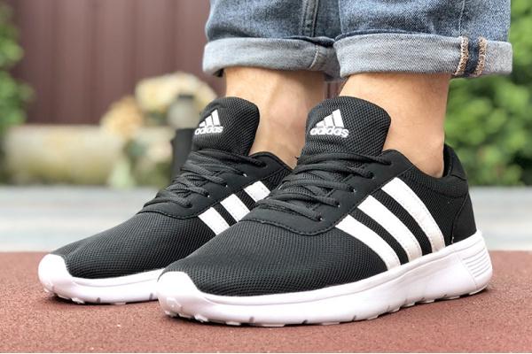 Мужские кроссовки Adidas черные с белым