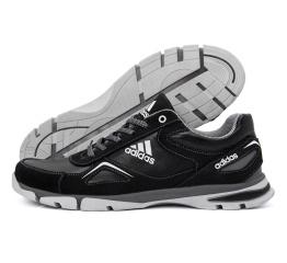 Мужские кроссовки Adidas черые с белым (black-white)