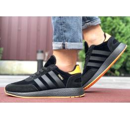 Купить Мужские кроссовки Adidas Iniki Runner черные с оранжевым