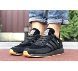 Купить Чоловічі кросівки Adidas Iniki Runner чорні з помаранчевим в Украине