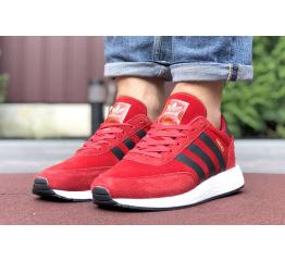 Купить Чоловічі кросівки Adidas Iniki Runner червоні з чорним в Украине