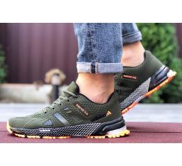 Купить Мужские кроссовки Adidas Marathon TR 26 хаки с оранжевым