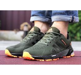 Купить Чоловічі кросівки Adidas Marathon TR 26 хаки з помаранчевим в Украине