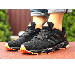 Купить Мужские кроссовки Adidas Marathon TR черные с оранжевым