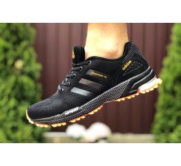 Купить Мужские кроссовки Adidas Marathon TR черные с оранжевым в Украине
