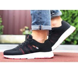 Купить Мужские кроссовки Adidas Neo черные с красным