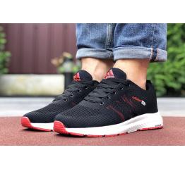 Купить Мужские кроссовки Adidas Neo черные с красным в Украине