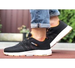 Купить Мужские кроссовки Adidas Neo черные с оранжевым