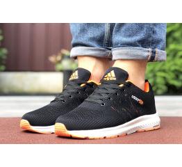 Купить Мужские кроссовки Adidas Neo черные с оранжевым в Украине