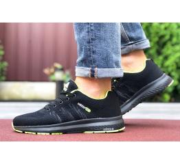 Купить Мужские кроссовки Adidas Neo черные с зеленым