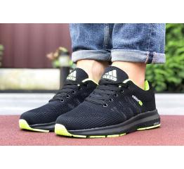Купить Мужские кроссовки Adidas Neo черные с зеленым в Украине