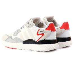 Купить Чоловічі кросівки Adidas Nite Jogger BOOST білі в Украине