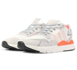 Купить Мужские кроссовки Adidas Nite Jogger BOOST белые с светло-бежевым