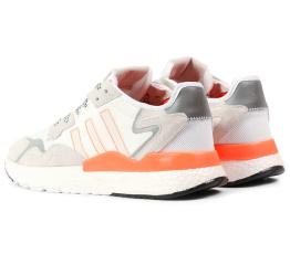 Купить Мужские кроссовки Adidas Nite Jogger BOOST белые с светло-бежевым в Украине
