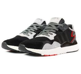 Купить Мужские кроссовки Adidas Nite Jogger BOOST черные с серым