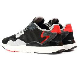 Купить Мужские кроссовки Adidas Nite Jogger BOOST черные с серым в Украине