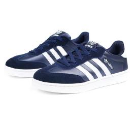 Купить Чоловічі кросівки Adidas Originals темно-сині з білим