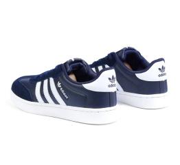 Купить Чоловічі кросівки Adidas Originals темно-сині з білим в Украине