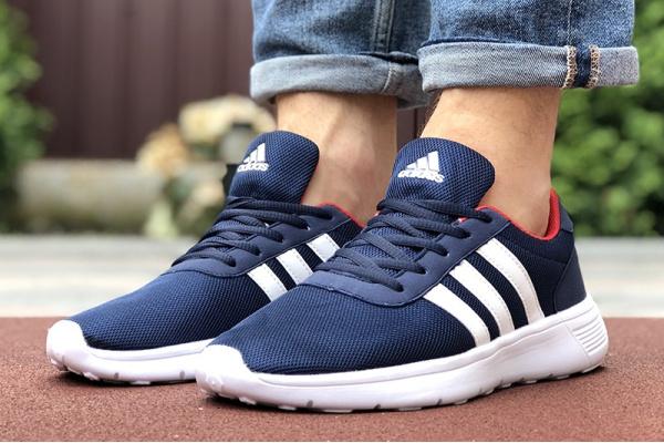 Мужские кроссовки Adidas темно-синие с белым