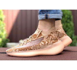 Купить Мужские кроссовки Adidas Yeezy Boost 380 коралловые в Украине