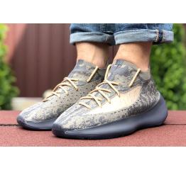 Купить Мужские кроссовки Adidas Yeezy Boost 380 серые с бежевым